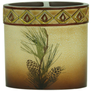 jcpenney.com | Bacova Pinecone Silhouette Toothbrush Holder