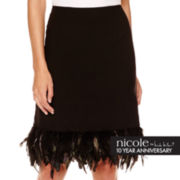 nicole by Nicole Miller® Feather-Trim Skirt