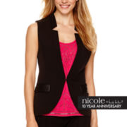 nicole by Nicole Miller® Faux-Leather Trim Vest