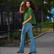 BELLE + SKY™ Flutter-Sleeve Top or Flare Jean