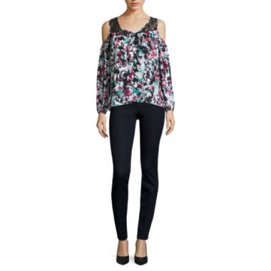 jcpenney.com | Decree® Cold-Shoulder Top or High-Rise Jeggings