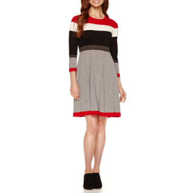 jcpenney.com | Jessica Howard 3/4 Sleeve Colorblock Sweater Dress