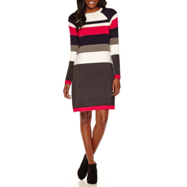 jcpenney.com | Jessica Howard Long Sleeve Stripe Sweater Dress
