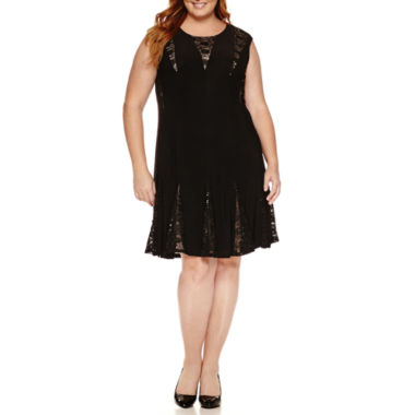jcpenney.com | R & M Richards Lace Fit & Flare Dress - Plus