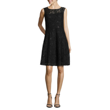 jcpenney.com | Ronni Nicole Sleeveless Sequin Lace Fit & Flare Dress