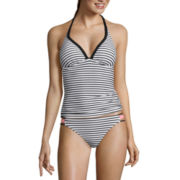 Arizona Summertime Stripe Push-Up Tankini Swim Top