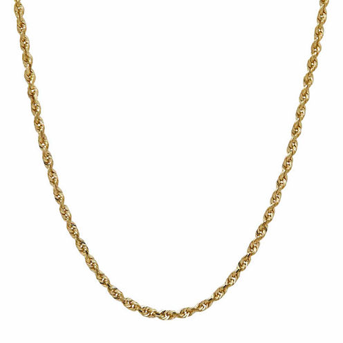LIMITED QUANTITIES! 14K Yellow Gold Solid 1.8mm Rope Chain Necklace