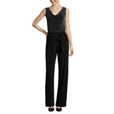 jcpenney.com | Tiana B. Sleeveless Side-Tie Knit Jumpsuit - Tall