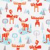 Trend Lab Winter Moose Flannel  Crib Sheet