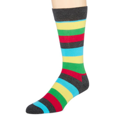 jcpenney.com | Happy Socks Mens Striped Crew Socks