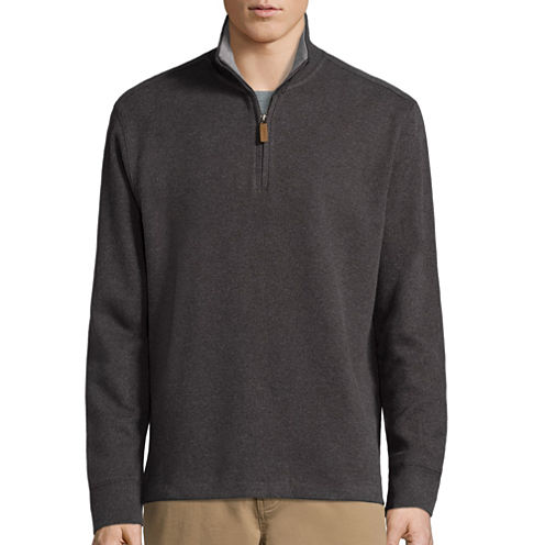 St. John's Bay® Long-Sleeve Quarter-Zip PulloverSweater