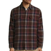 St. John's Bay® Long-Sleeve Quilted Flannel Shirt Jacket