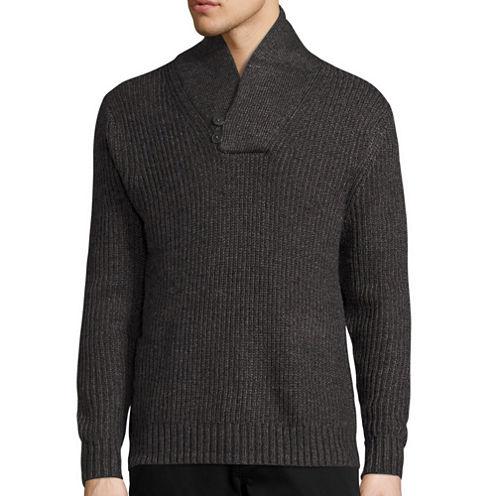 St. John's Bay® Long-Sleeve Shawlneck Sweater