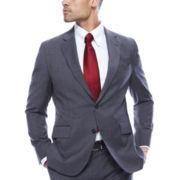 Stafford® Travel Stretch Windowpane Slim Jacket