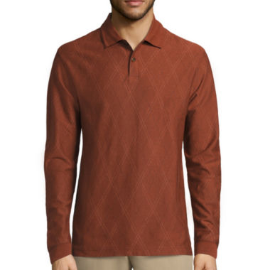 jcpenney.com | Haggar© Long-Sleeve Double Jacquard Polo