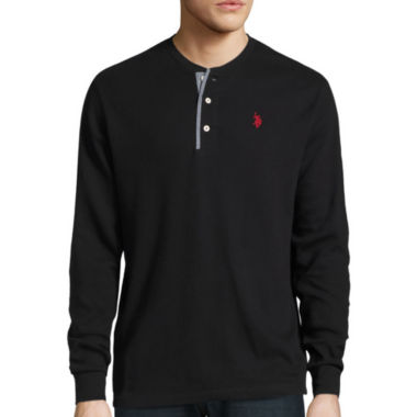 jcpenney.com | U.S. Polo Assn.® Long-Sleeve Thermal Henley Cotton Shirt