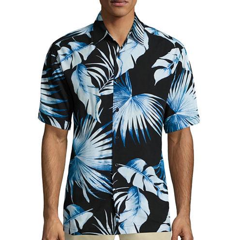 The Havanera Co.® Short-Sleeve Tropical Print Shirt