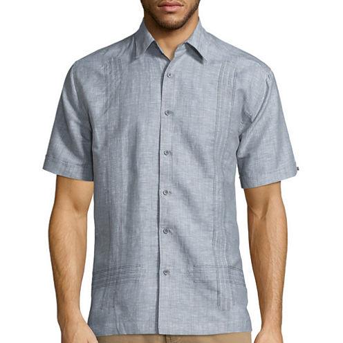 Havanera Short Sleeve Embroidered Button-Front Shirt