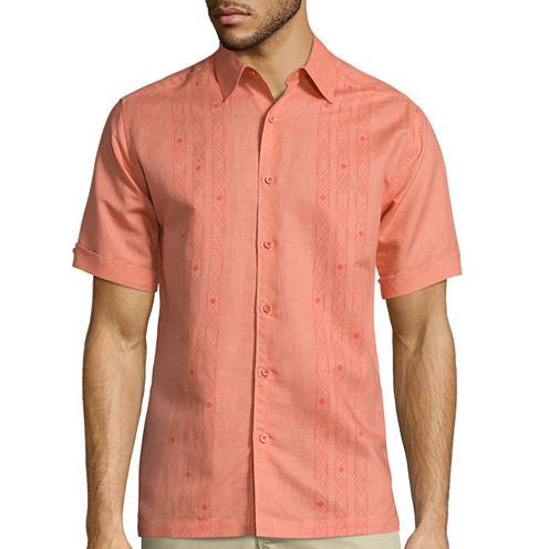 The Havanera Co.® Short-Sleeve Printed Panels Shirt