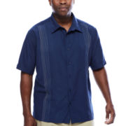 The Havanera Co.® Short-Sleeve Ombre Embroidered Shirt - Big & Tall