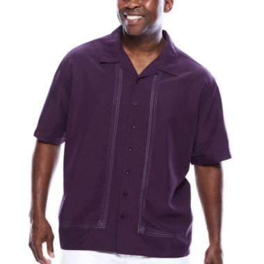jcpenney.com | The Havanera Co.® Short-Sleeve Embroidered Shirt- Big & Tall