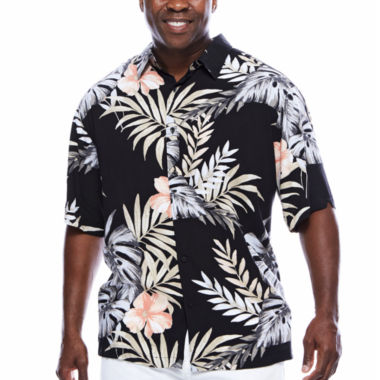 jcpenney.com | Havanera™ Rayon Allover Tropical Print Short Sleeve Shirt