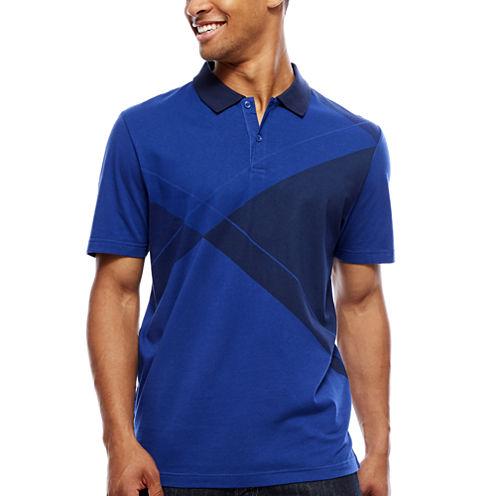 ARGYLECULTURE Short-Sleeve Printed Jersey Polo Shirt