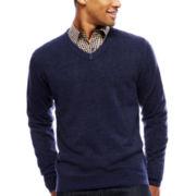 ARGYLECULTURE Long-Sleeve V Neck Sweater