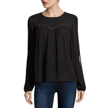 jcpenney.com | Arizona Split Sleeve Peasant Top - Juniors