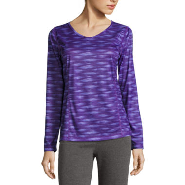 jcpenney.com | Made For Life Long Sleeve V Neck T-Shirt-Talls