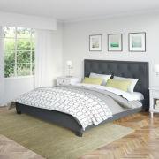 Fairfield Diamond Tufted Fabric Bed