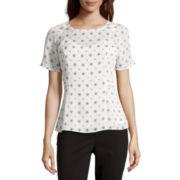 Liz Claiborne® Flutter-Sleeve Top