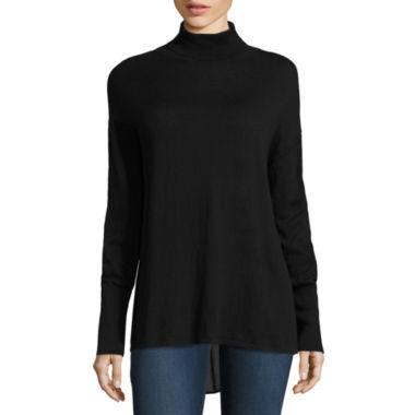 jcpenney.com | Stylus Long Sleeve Turtleneck Pullover Sweater-Petites
