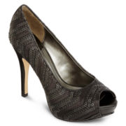 Worthington® Lara Sequin Peep-Toe Pumps