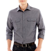 Claiborne Slim-Fit Button-Down Shirt