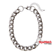 Worthington® Hematite Link Collar Necklace