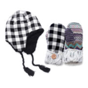 MUK-LUKS® Plaid Festival Hat and Mittens Set