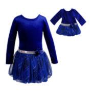 Dollie & Me Long-Sleeve Bubble Dress - Girls 7-12