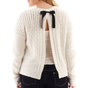 Arizona Bow-Back Cable Knit Sweater - Plus