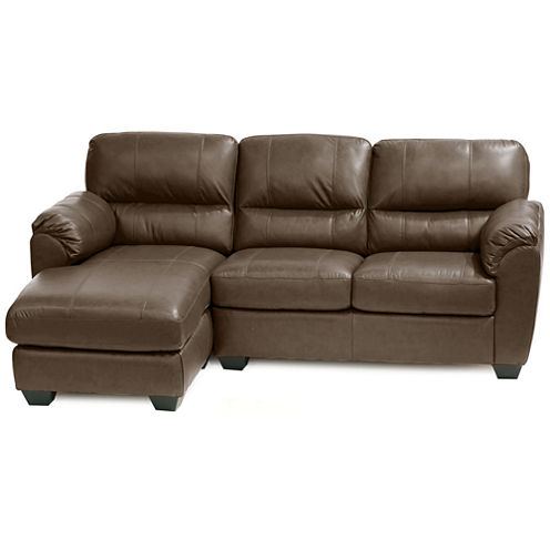 Leather Possibilities Pad-Arm 2-pc. Left-Arm Sectional