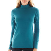 St. John's Bay® Long-Sleeve Mockneck Top
