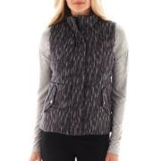 Liz Claiborne Print Puffer Vest