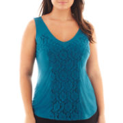 Worthington® Lace Tank Top - Plus