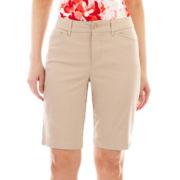 St. John's Bay® Secretly Slender Bermuda Shorts - Petite