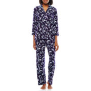 Earth Angels® 3/4-Sleeve Shirt and Pants Knit Pajama Set