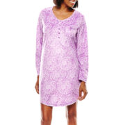 Earth Angels® Long-Sleeve Microfleece Night Shirt - Petite