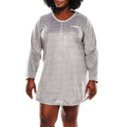 Earth Angels® Long-Sleeve Microfleece Night Shirt - Plus