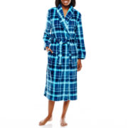 Jasmine Rose Plaid Print Wrap Robe