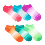 Mixit™ Womens 6-pk. Bright Stripes No-Show Socks