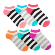 Mixit™ Womens 6-pk. Striped No-Show Socks